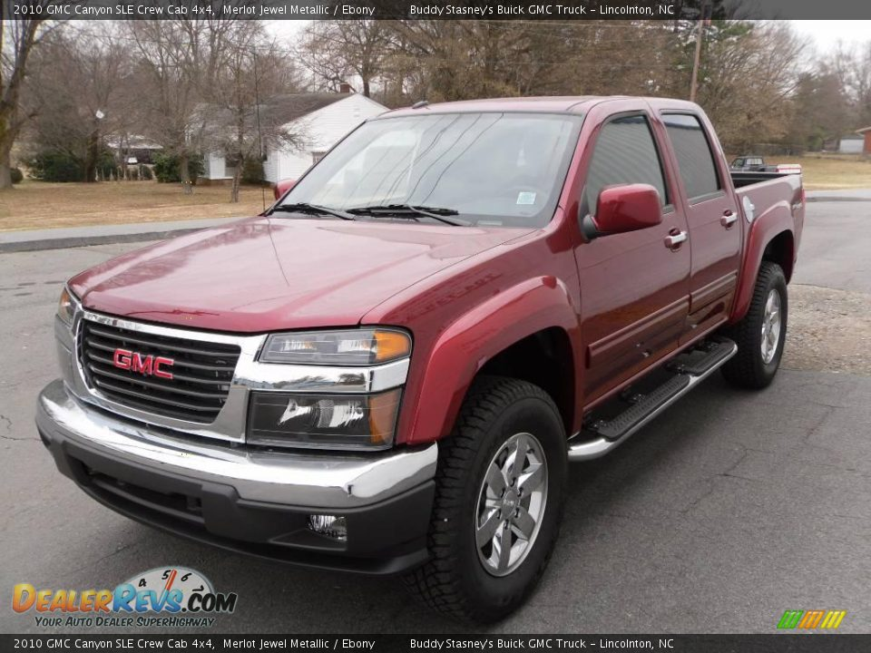 2010 gmc canyon sle crew cab 4x4 merlot jewel metallic ebony photo 2. Black Bedroom Furniture Sets. Home Design Ideas