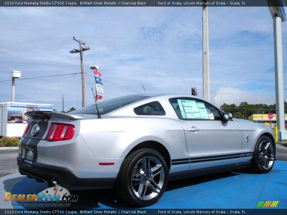 2010 Ford Mustang Shelby GT500 Coupe Brilliant Silver Metallic ...