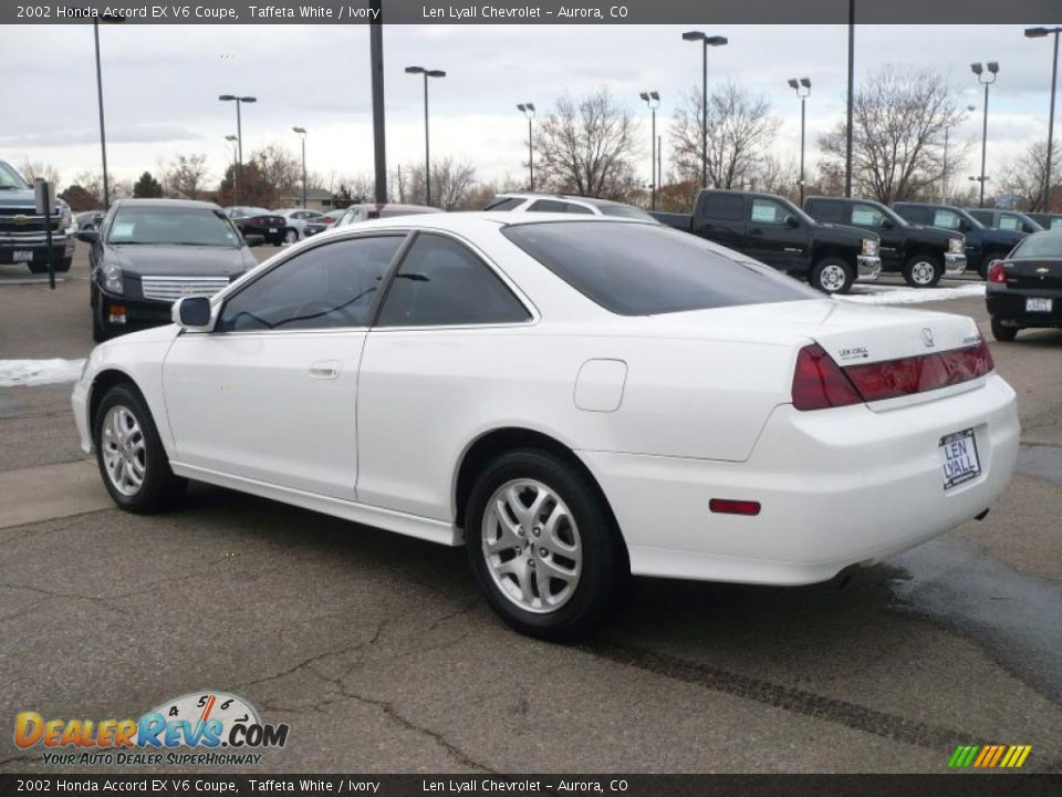 2002 honda accord ex v6 coupe taffeta white ivory photo 4. Black Bedroom Furniture Sets. Home Design Ideas