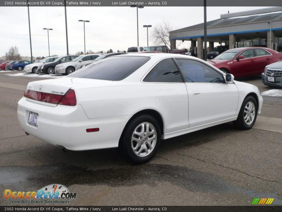 2002 honda accord ex v6 coupe taffeta white ivory photo 6. Black Bedroom Furniture Sets. Home Design Ideas