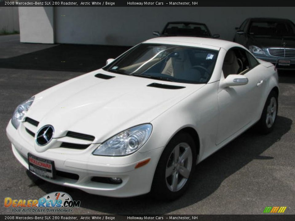 2008 mercedes benz slk 280 roadster arctic white beige photo 1. Black Bedroom Furniture Sets. Home Design Ideas