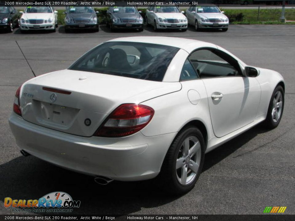 2008 mercedes benz slk 280 roadster arctic white beige photo 6. Black Bedroom Furniture Sets. Home Design Ideas