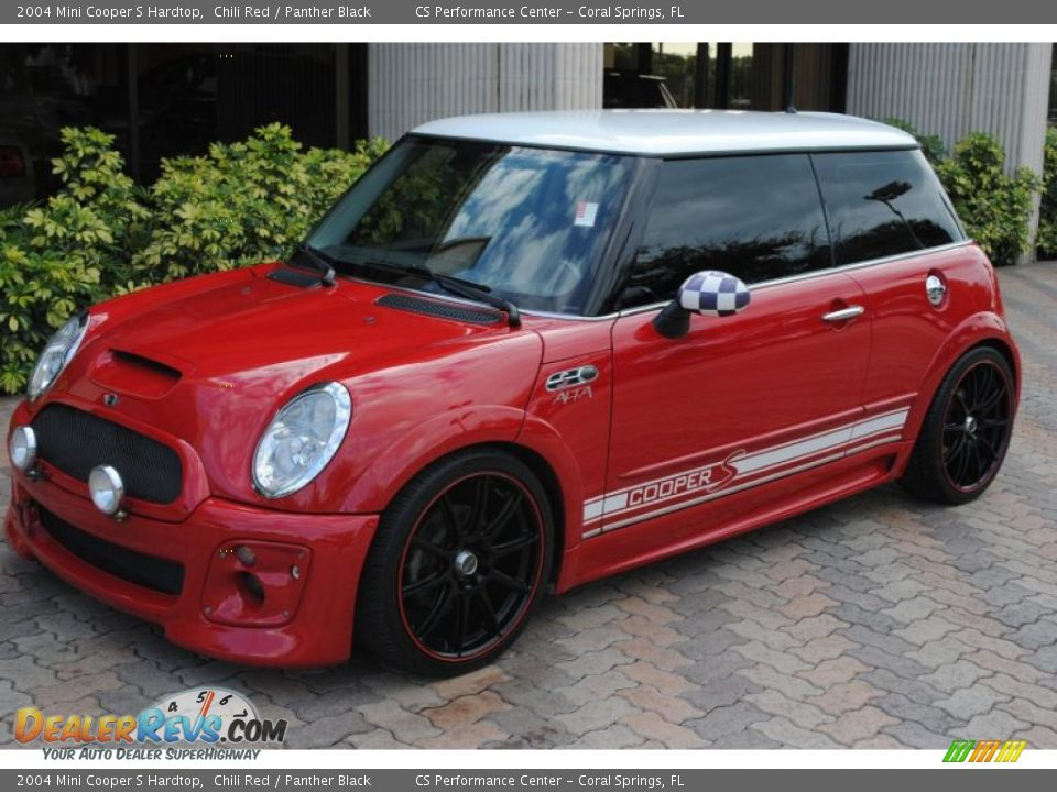 2004 mini cooper s hardtop chili red panther black photo 1. Black Bedroom Furniture Sets. Home Design Ideas