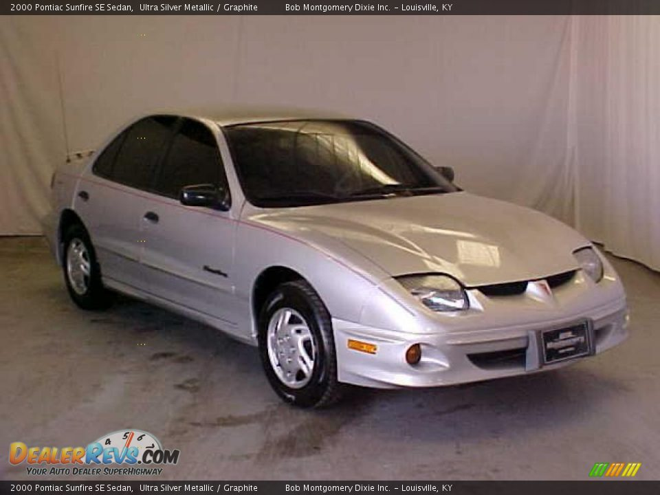 2000 pontiac sunfire se sedan ultra silver metallic. Black Bedroom Furniture Sets. Home Design Ideas