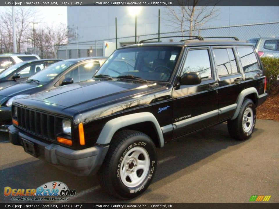 1997 jeep cherokee sport 4x4 black grey photo 7. Black Bedroom Furniture Sets. Home Design Ideas