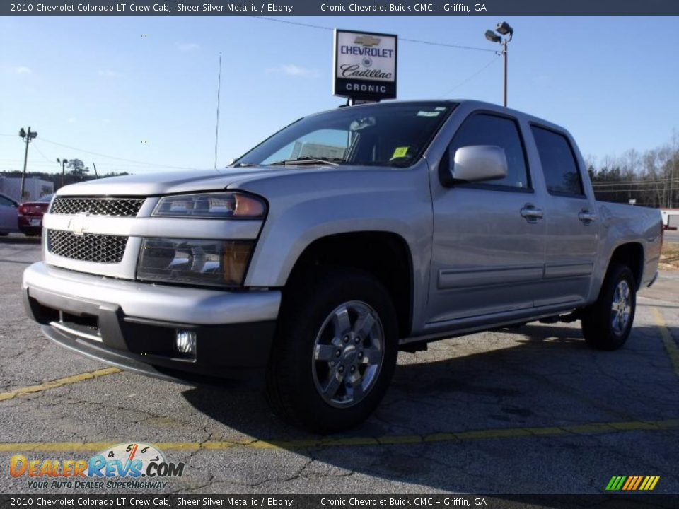 2010 chevrolet colorado lt crew cab sheer silver metallic. Black Bedroom Furniture Sets. Home Design Ideas
