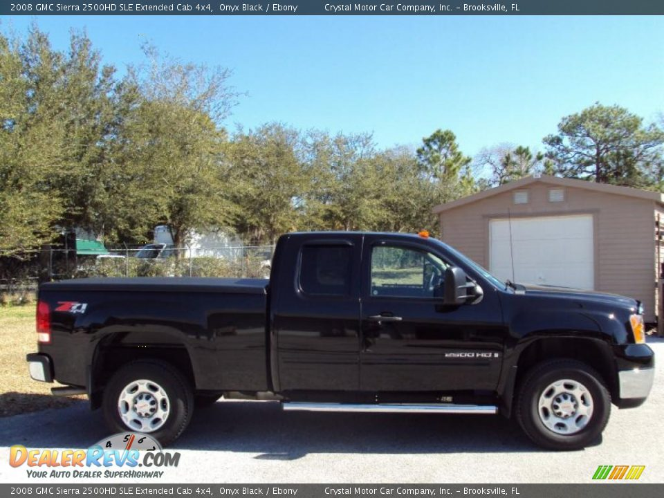 2008 gmc sierra 2500hd sle extended cab 4x4 onyx black. Black Bedroom Furniture Sets. Home Design Ideas