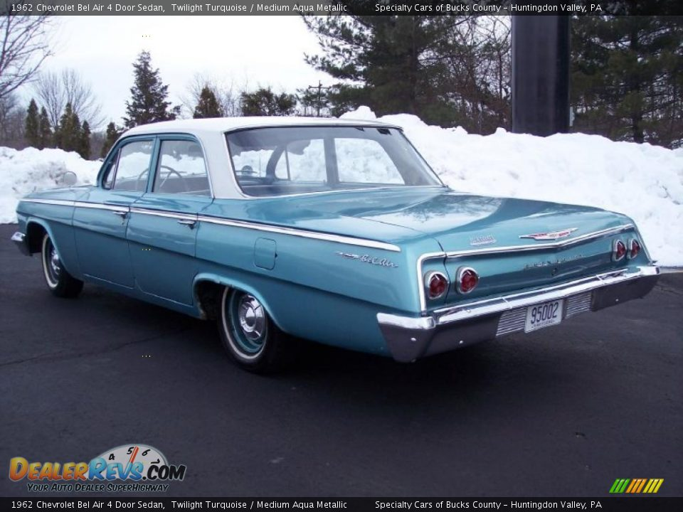 Chevrolet Bel Air >> 1962 Chevrolet Bel Air 4 Door Sedan Twilight Turquoise ...