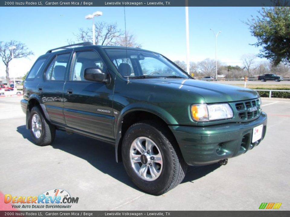 2000 isuzu rodeo ls garden green mica beige photo 7 dealerrevs