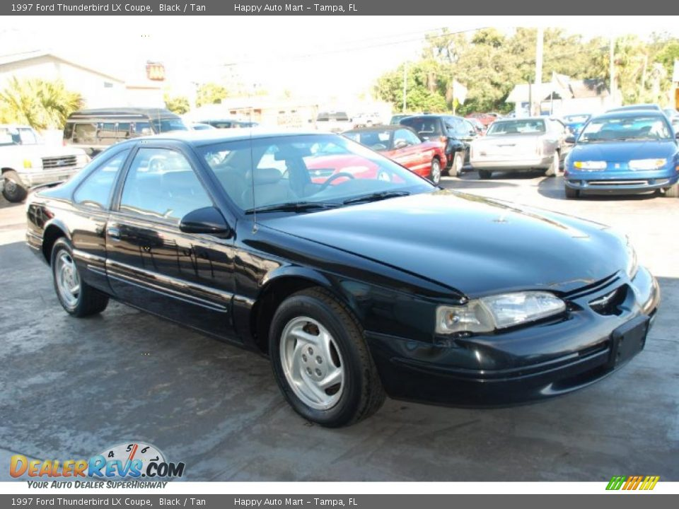 1997 ford thunderbird lx coupe black tan photo 7. Cars Review. Best American Auto & Cars Review