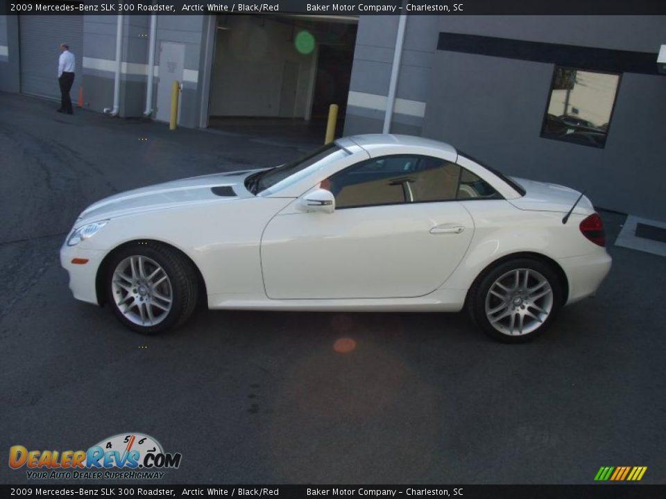 2009 mercedes benz slk 300 roadster arctic white black for Mercedes benz slk 300