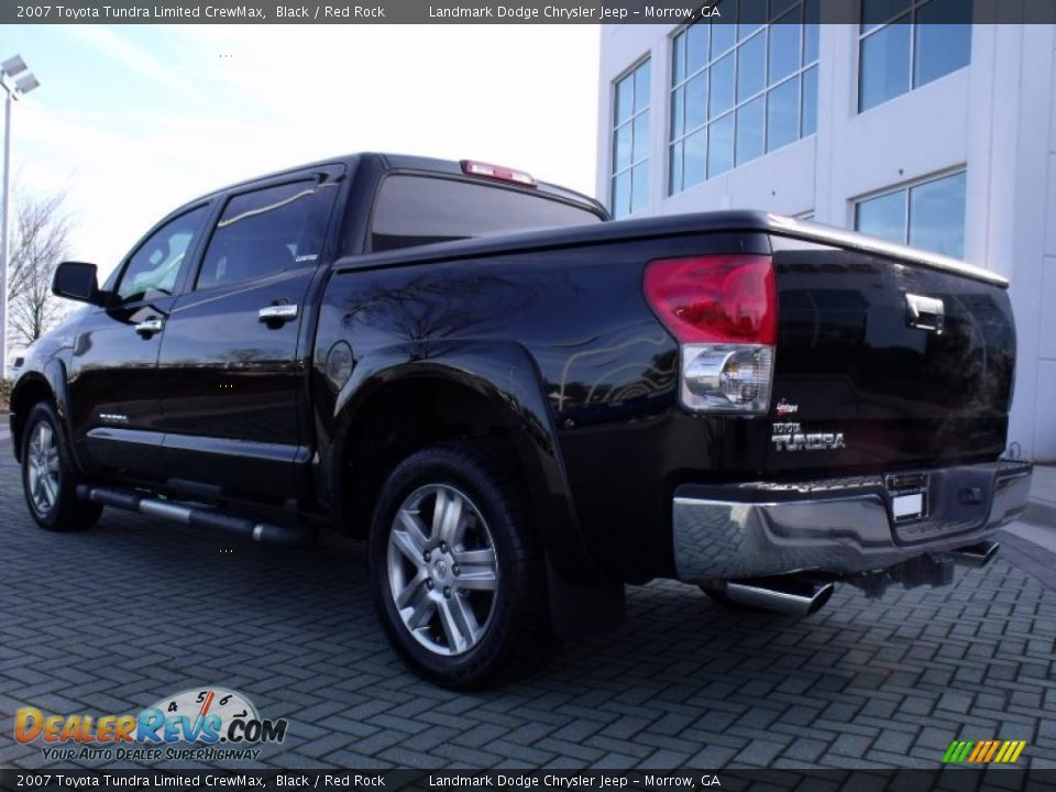 2007 toyota tundra limited crewmax black red rock photo 3. Black Bedroom Furniture Sets. Home Design Ideas