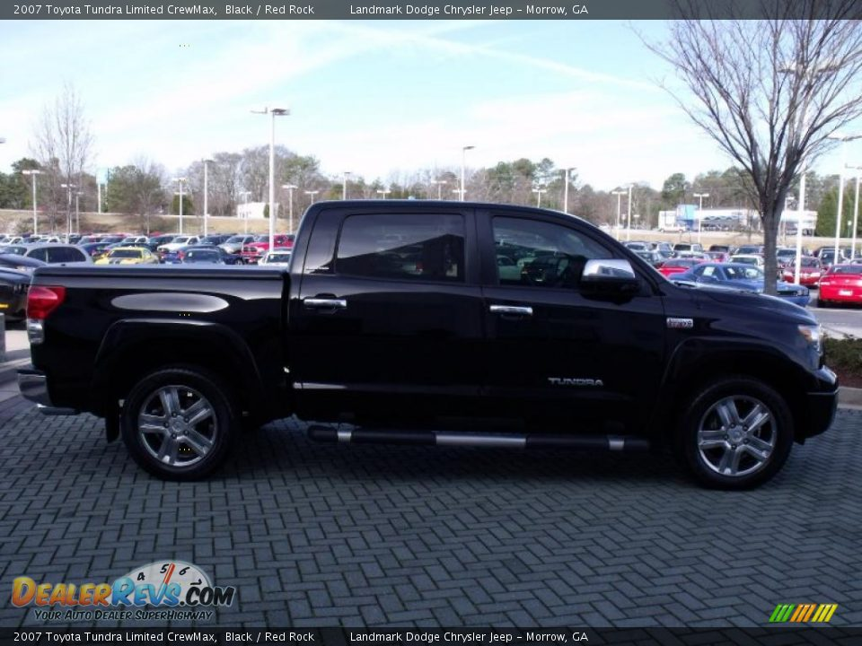 2007 toyota tundra limited crewmax black red rock photo 6. Black Bedroom Furniture Sets. Home Design Ideas