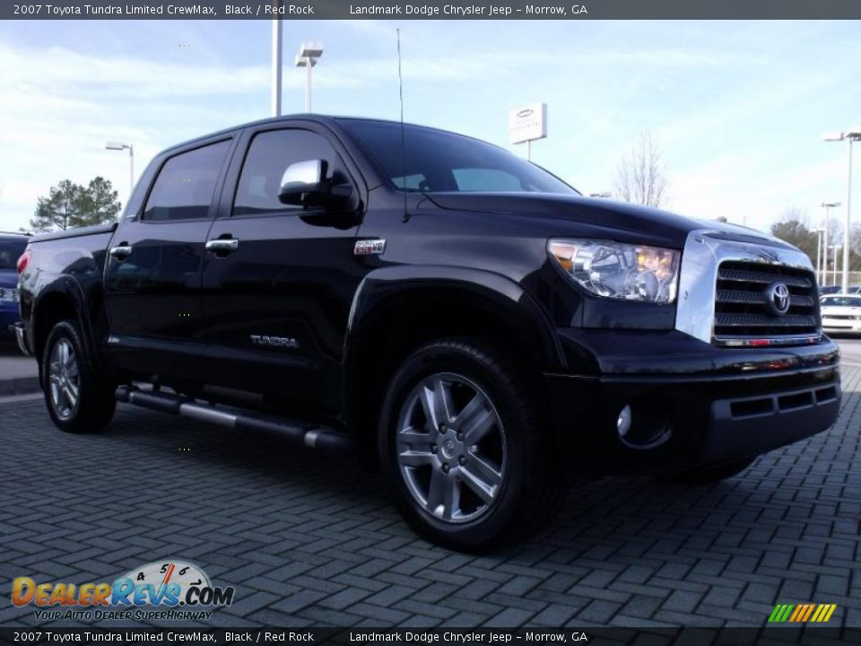 2007 toyota tundra limited crewmax black red rock photo 7. Black Bedroom Furniture Sets. Home Design Ideas