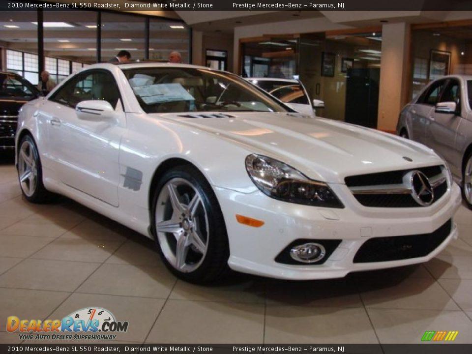 2010 mercedes benz sl 550 roadster diamond white metallic for Mercedes benz sl 2010