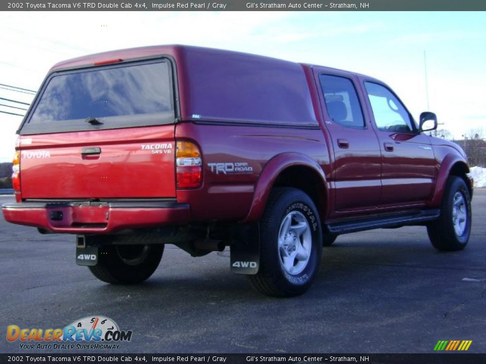 2002 toyota tacoma v6 trd double cab 4x4 impulse red pearl gray photo 7. Black Bedroom Furniture Sets. Home Design Ideas