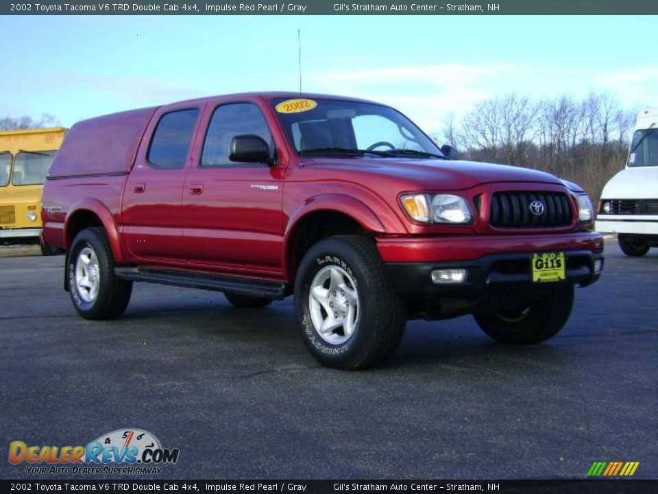 2002 toyota tacoma v6 trd double cab 4x4 impulse red pearl gray photo 9. Black Bedroom Furniture Sets. Home Design Ideas