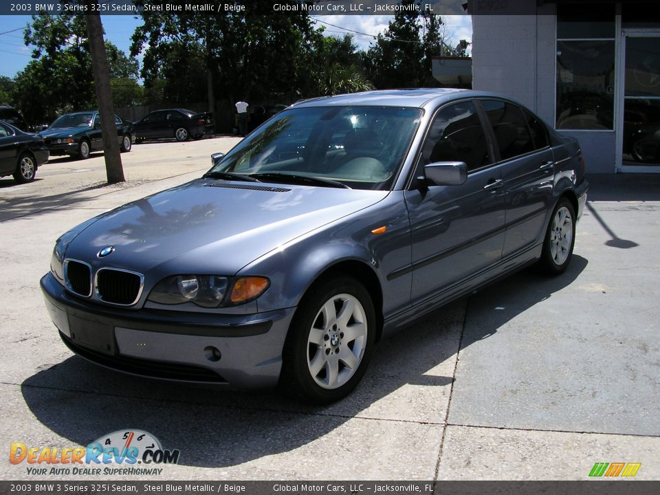 2003 Bmw 3 Series 325i Sedan Steel Blue Metallic Beige