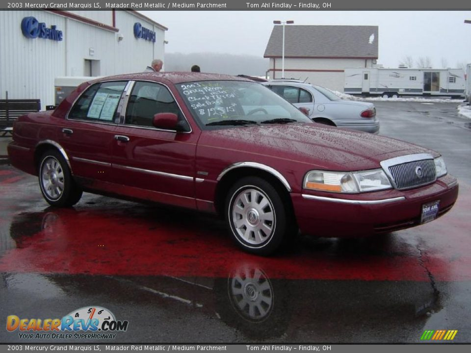 2003 mercury grand marquis ls matador red metallic medium parchment photo 7. Black Bedroom Furniture Sets. Home Design Ideas