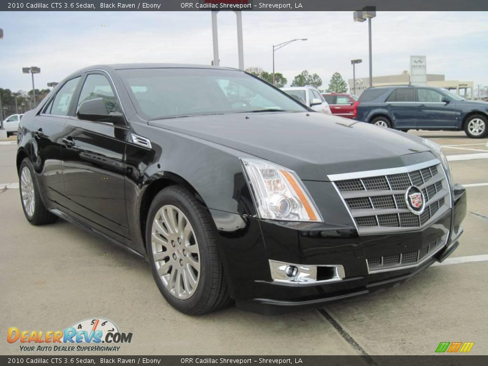 2010 cadillac cts 3 6 sedan black raven ebony photo 2. Black Bedroom Furniture Sets. Home Design Ideas
