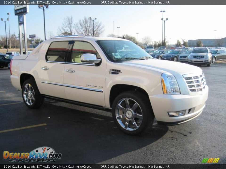 2010 Cadillac Escalade Ext Awd Gold Mist Cashmere Cocoa