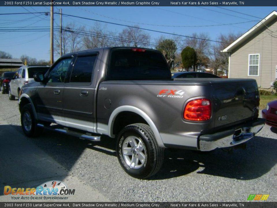 Ford Dealer Locator >> 2003 Ford F150 Lariat SuperCrew 4x4 Dark Shadow Grey Metallic / Medium Graphite Grey Photo #7 ...