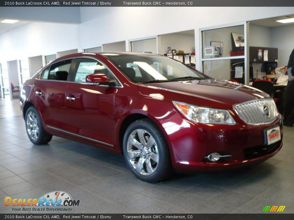 2010 Buick LaCrosse CXL AWD Red Jewel Tintcoat / Ebony Photo #1 ...