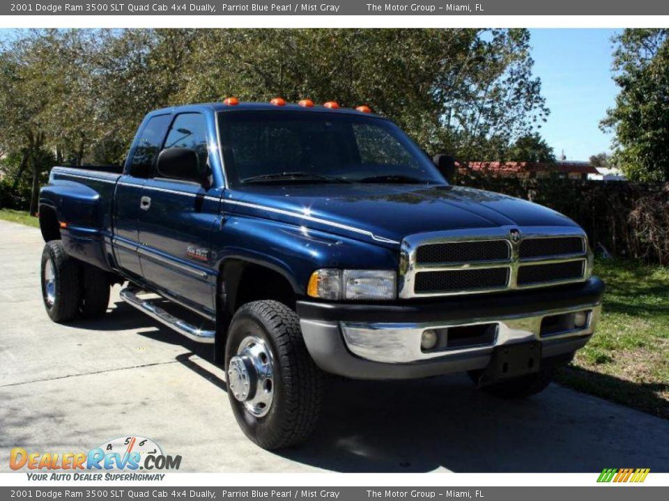 2001 Dodge Ram 3500 Slt Quad Cab 4x4 Dually Parriot Blue
