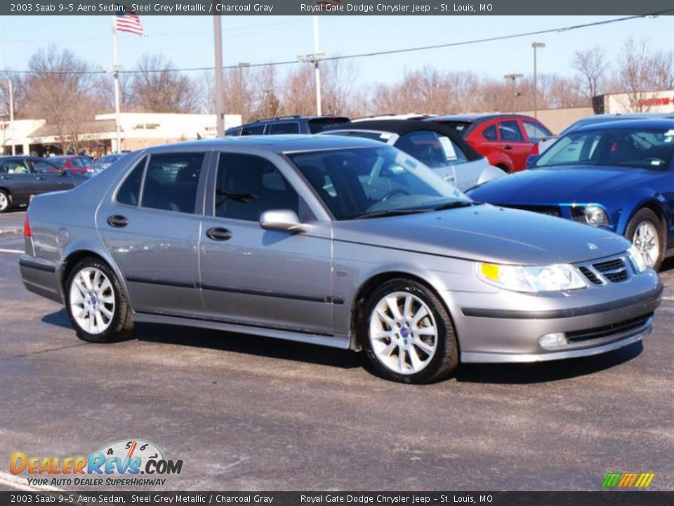 2003 Saab 9 5 Aero Sedan Steel Grey Metallic Charcoal Gray Photo