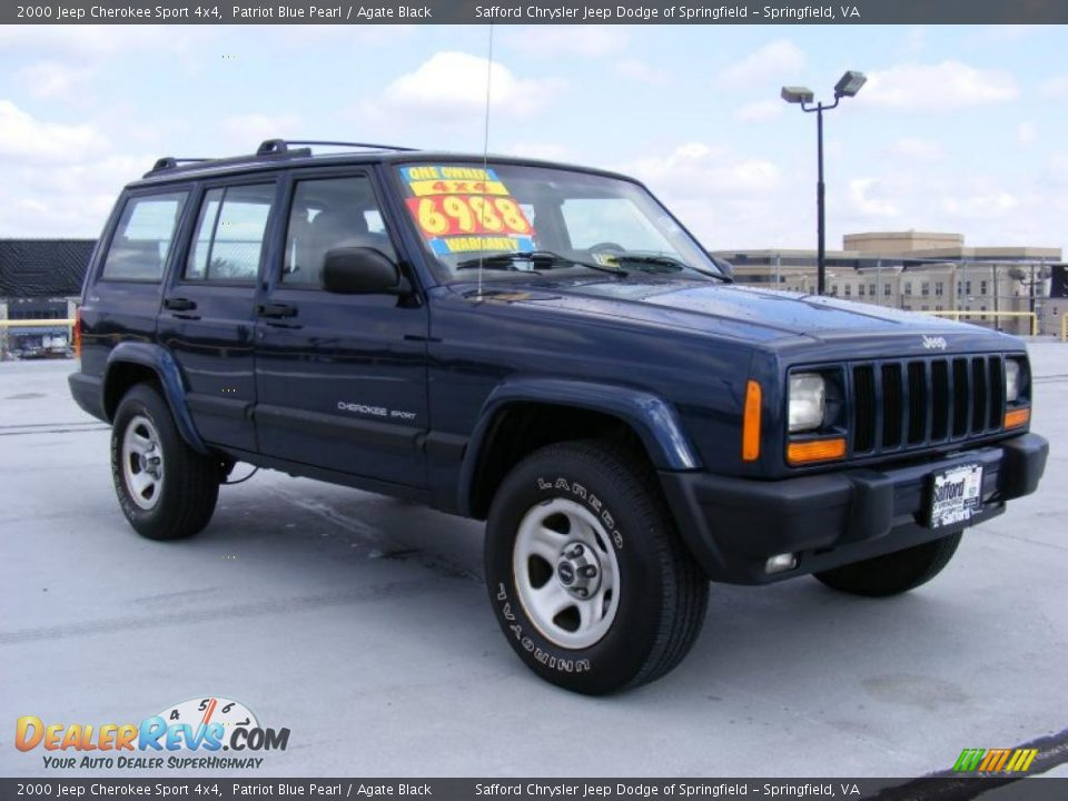 2000 jeep cherokee sport 4x4 patriot blue pearl agate black photo 3. Cars Review. Best American Auto & Cars Review