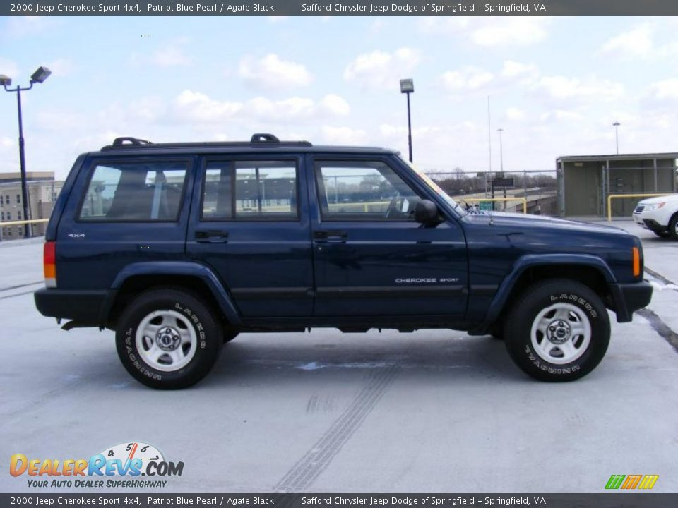2000 jeep cherokee sport 4x4 patriot blue pearl agate black photo 4. Cars Review. Best American Auto & Cars Review