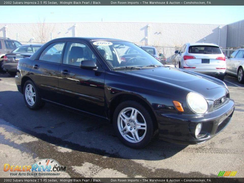 2002 Subaru Impreza 2 5 Rs Sedan Midnight Black Pearl