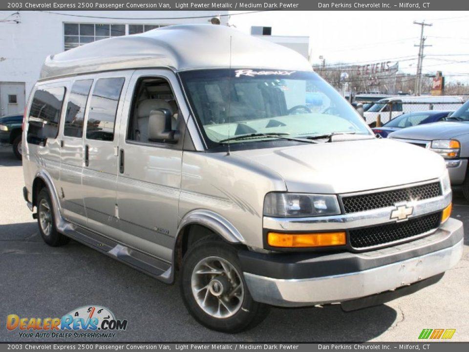 2003 chevrolet express 2500 passenger conversion van light pewter metallic medium dark pewter