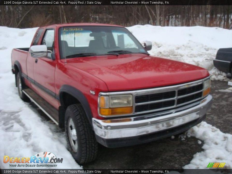 1996 Dodge Dakota Slt Extended Cab 4x4 Poppy Red Slate