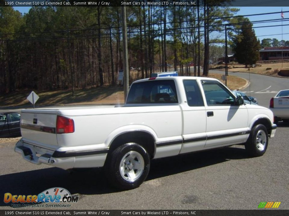 1995 chevrolet s10 ls extended cab summit white gray. Black Bedroom Furniture Sets. Home Design Ideas