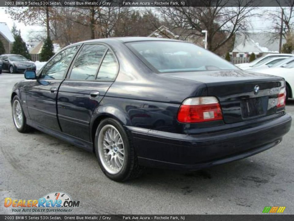 2003 Bmw 5 Series 530i Sedan Orient Blue Metallic Grey