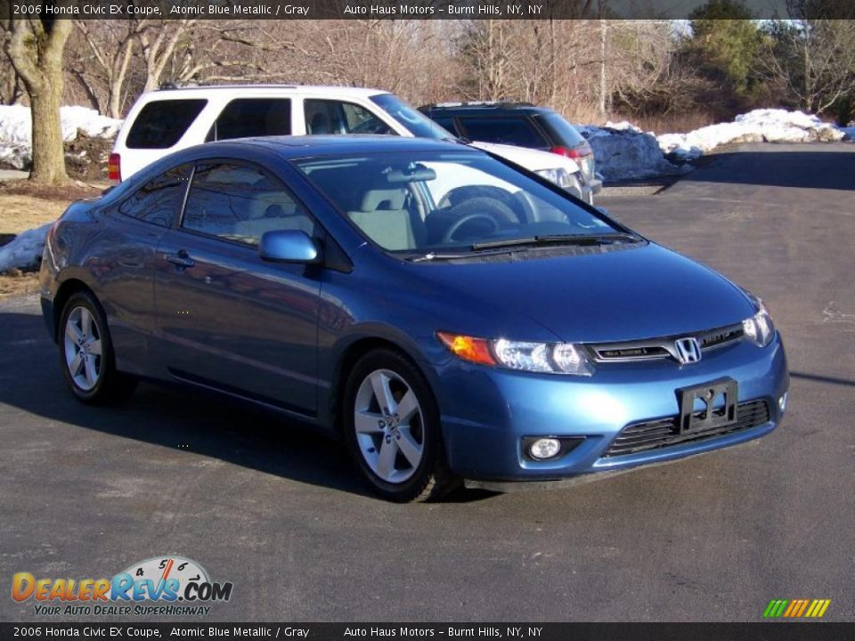 2006 honda civic ex coupe atomic blue metallic gray photo 3. Black Bedroom Furniture Sets. Home Design Ideas