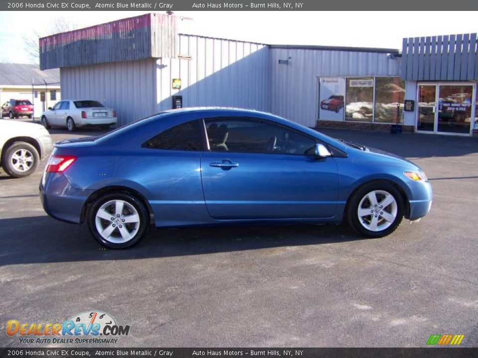 2006 honda civic ex coupe atomic blue metallic gray photo 4. Black Bedroom Furniture Sets. Home Design Ideas