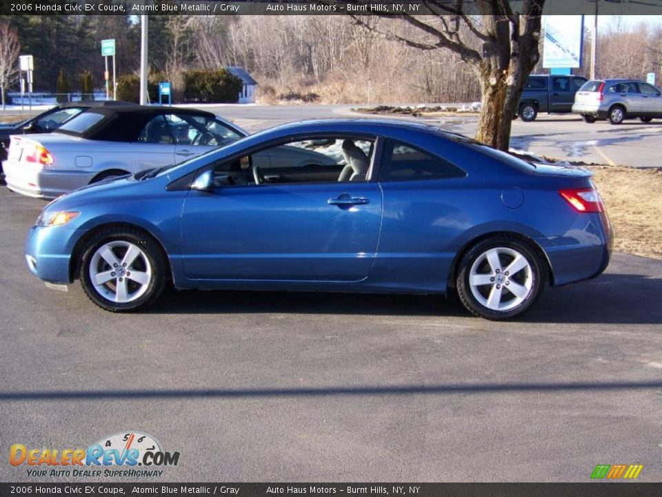 2006 honda civic ex coupe atomic blue metallic gray photo 8. Black Bedroom Furniture Sets. Home Design Ideas
