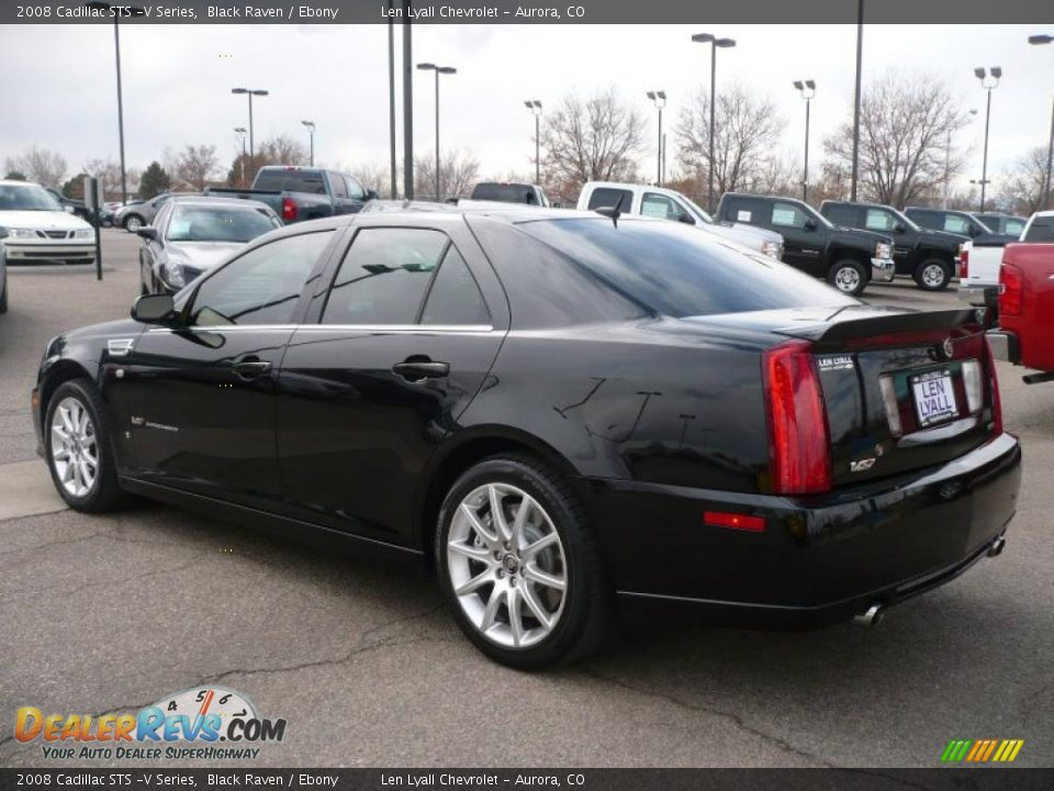 2008 cadillac sts v series black raven ebony photo 4. Black Bedroom Furniture Sets. Home Design Ideas