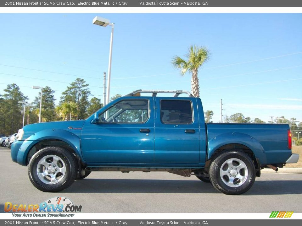 2001 Nissan Frontier Sc V6 Crew Cab Electric Blue Metallic