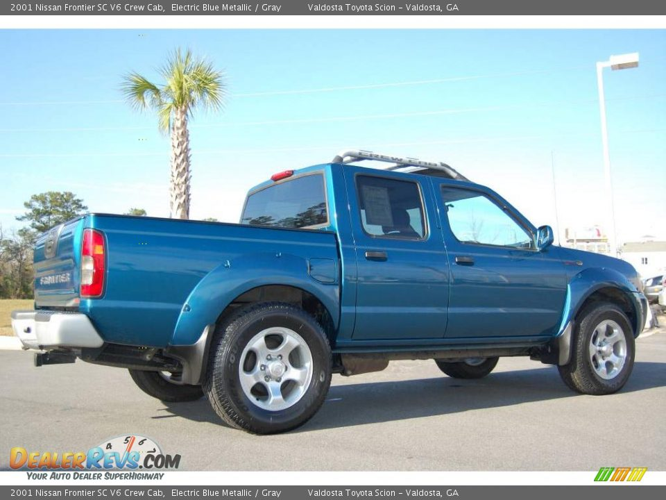 2001 Nissan Frontier Sc V6 Crew Cab Electric Blue Metallic