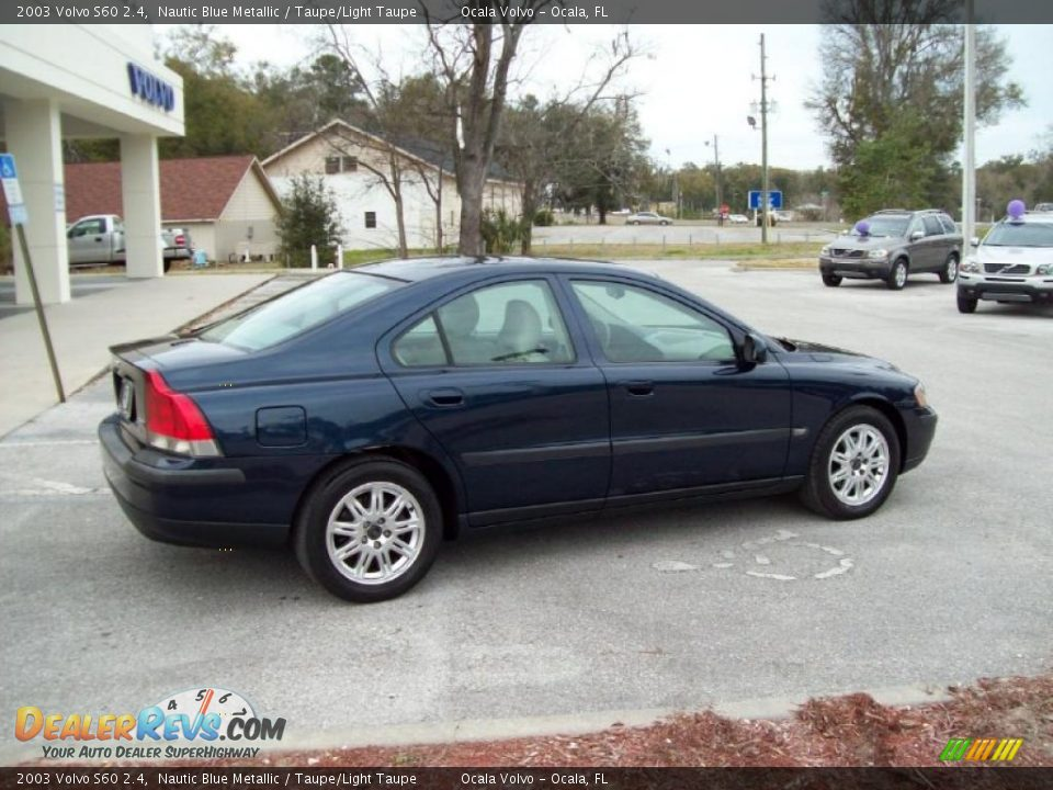 2003 volvo s60 2 4 nautic blue metallic taupe light taupe photo 11 dealerrevs