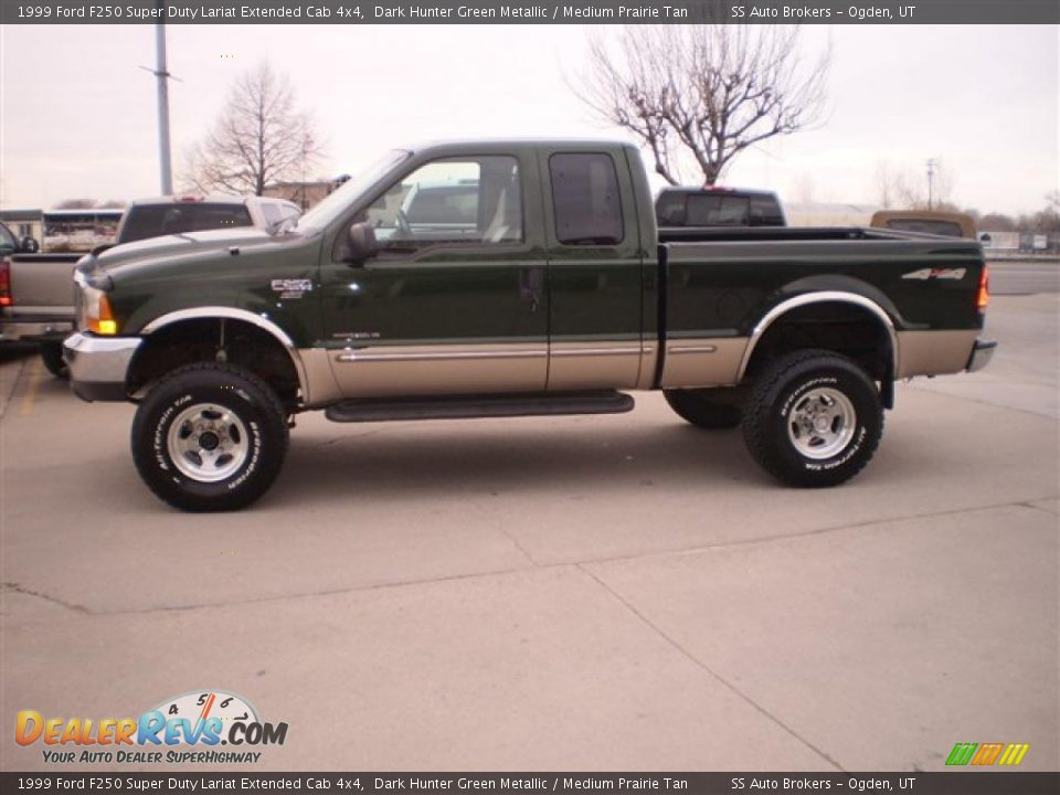 1999 Ford F250 Super Duty Lariat Extended Cab 4x4 Dark Hunter Green ...