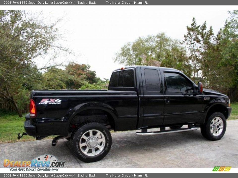 2003 ford f350 super duty lariat supercab 4x4 black black photo 11. Black Bedroom Furniture Sets. Home Design Ideas