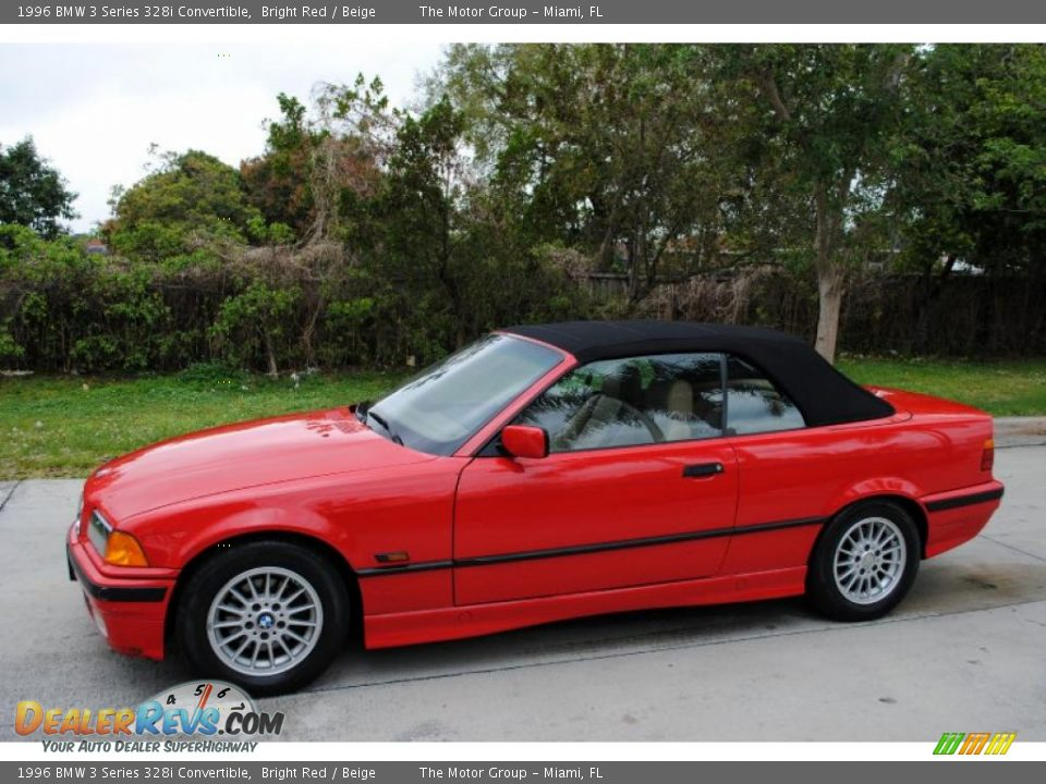 bright red 1996 bmw 3 series 328i convertible photo 2. Black Bedroom Furniture Sets. Home Design Ideas