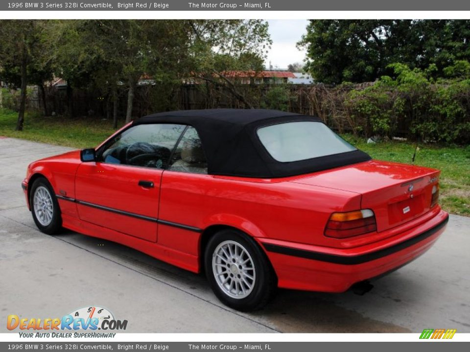 bright red 1996 bmw 3 series 328i convertible photo 4. Black Bedroom Furniture Sets. Home Design Ideas