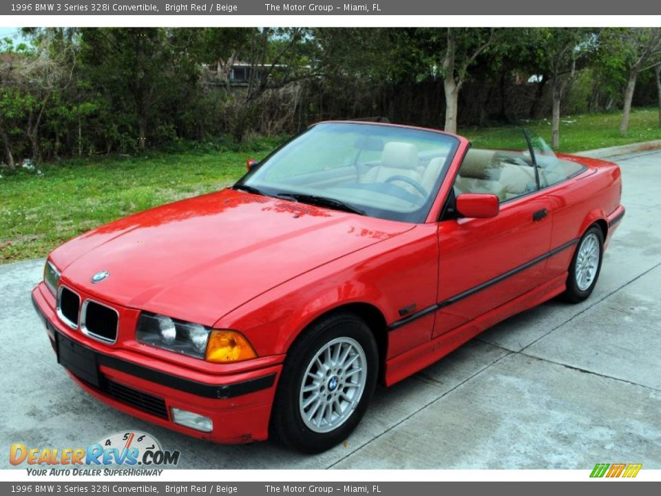 1996 bmw 3 series 328i convertible bright red beige. Black Bedroom Furniture Sets. Home Design Ideas