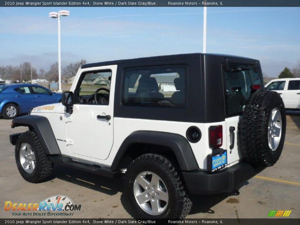 2010 Jeep Wrangler Sport Islander Edition 4x4 Stone White Dark Slate Gray Blue Photo 9