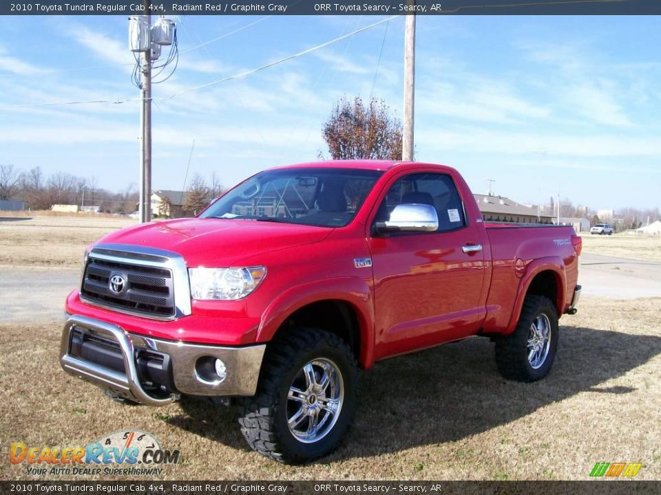 2010 toyota tundra regular cab 4x4 radiant red graphite gray photo 1. Black Bedroom Furniture Sets. Home Design Ideas